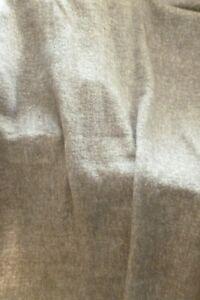 Good quality thick soft grey sofa bench fringed throw bedspread blanket VGC