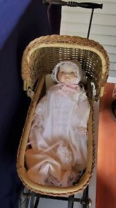 Antique Baby Stroller and Doll