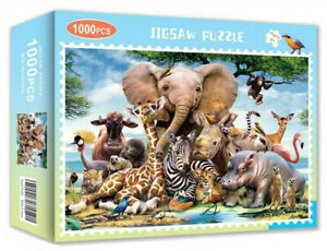 1000 Pieces Animal Jigsaw Puzzle Educational Adult Kids Games DIY Toy Home Decor