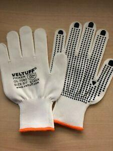 Picking Packing PVC POLKA DOT Nylon Work Gloves All Sizes BEST PRICE ON EBAY
