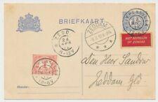 Briefkaart - Grootrondstempel Krimpen A/D Lek - Zeddam 1912