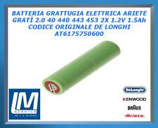BATTERIA GRATTUGIA ELETTRICA ARIETE GRATÌ 2.0 40 440 443 453 2X1.2V AT6175750600
