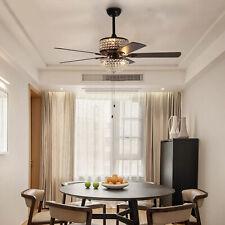 """52"""" Modern Crystal Chandelier Ceiling Fan Lighting Chandelier w/ Remote Control"""