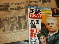 Vintage CRIME BEAT Magazine 1992+British Newspaper 1972/Insp.For Godfather Movie
