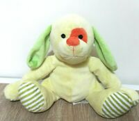 Dymples Puppy Dog Yellow Orange Patchy Eyes Green Ear Soft Plush Animal Doll Toy