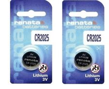 Genuine Renata  CR2025 Lithium Coin Batteries Expiry Date 12/2023 Pack of 2