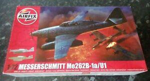 New sealed Airfix Messerschmitt Me 262B-1a/U1 1:72 vintage model kit #A04062 L29