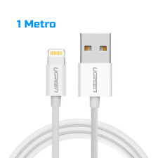 Cable USB Lightning blanco 1m Ugreen certificado MFI Apple 2.4a