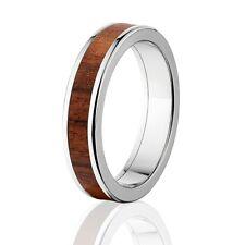 Bolivian Rosewood in Titanium Ring, Exotic Hard Wood Wedding Band , Wood rings
