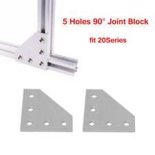 5 Holes 90°Joint Board Corner Angle Bracket For 2020 Series 3D CNC Printer Parts