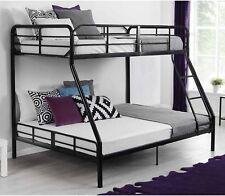 Twin Over Full Metal Bunk Bed Kids Teens Bedroom Furniture, Contemporary Design