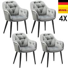 Esszimmerstühle 4er SET Stuhl Küchenstuhl Wohnzimmerstühle Samt Polsterstuhl