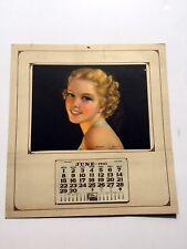 1941 Pin Up Glamour Girl Calendar Rosebuds by Jules Erbit