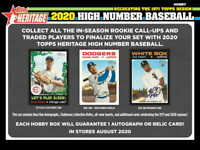 2020 TOPPS HERITAGE HIGH NUMBER BASEBALL - FACTORY SEALED HOBBY BOX - PRE SALE -