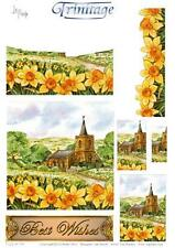 3D Trinitage Pop-up Card Making Paper Tole Daffodil Hill NEW