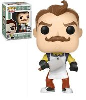 FUNKO POP HELLO NEIGHBOR THE NEIGHBOR - APRON & CLEAVER EXCLUSIVE FIGUR NEU/OVP