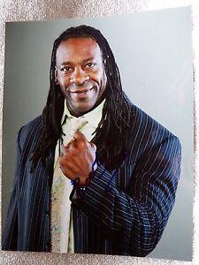 WWE Superstar Booker T Signed 8x10 Photo Auto AKA Booker Tio Huffman, Jr