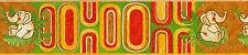 "0554-2-610) 1 Rolle schicke Kinderzimmer Borte Bordüre ""lustige Elefanten"""