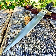 "12.5"" Wood Medieval Renaissance Fantasy Dagger Sword Hunting Knife -T"