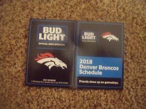 2018 Denver Broncos (NFL) Bud Light Beer cover football pocket schedule