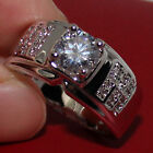 Eternal Mens Womens Round White Sapphire Stainless Steel Wedding CZ Claw Ring