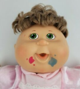 Cabbage Patch Kids Messy Face Doll Pink Velvety Outfit With Bow