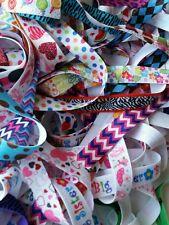 "wholesale elastic by the yard, 5/8""  FOE fold over elastic prints grab bag 25y"