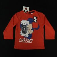 Kid's Disney Mickey Mouse Cheese L/S Tee