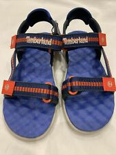 Timberland boys perkin row strap sandal. Bright Blue Webbing 11.5 UK