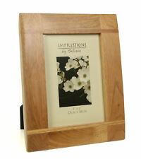"Impressions Oak Wood Photo Picture Frame Natural Colour  5"" x 7"""