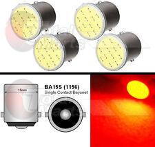 4X COB BA15S / R5W P21W 12 Chips Tail Brake Rear Light Bulb Led Red