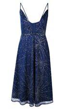 S176# Boohoo Boutique Culotte STAR GAZER Midi Robe Patineuse Taille 14 RRP £ 35