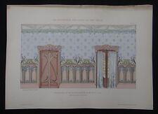 PLANCHE 8 DECORATION PICTURALE 1900 CRUVEILHIER Art nouveau Jugendstil no Mucha