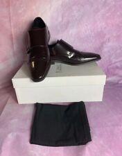 Versace Collection Men Brown Spazzolato Leather Monkstrap Oxfords Size 41 (8)