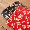 Red Japanese Upholstery Bronzing Cotton Kimono Sakura flower Fabric Width 150cm