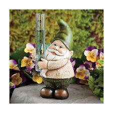 Bits and Pieces Garden Décor-Hand Painted Gnome Rain Gauge Sculpture for Your.