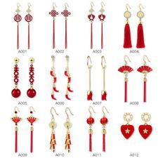Boho Ear Hook Dangle Earrings Jewelry Fashion Women Chinese Long Tassel Fringe