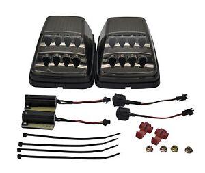 Für Mercedes W463 G500 G550 G55 G63 LED Blinker Frontblinker Schwarz Chrom Set