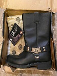 Harley-Davidson Iroquois Skull, Black Men's Size 11.5, New in Damaged Box