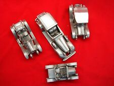 Danbury Mint - 4 Diff. Antique Car Models In Pewter - Nice & Highly Detailed