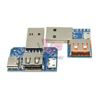 Type-C 2.54mm USB Converter Female to Male Micro USB 4P Terminal Adapter Board