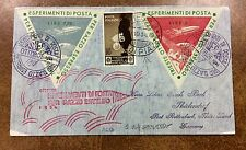 {BJSTAMPS} 1934 ITALY rocket mail cover TRIESTE - EZ 1C1b experimental flight