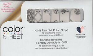 Color Street Nail Polish Strips Game On Sports Overlay USA Made