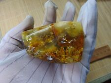 Natural Egg Yolk Butterscotch Baltic Amber Stone for Pendant Brooch 93 grams