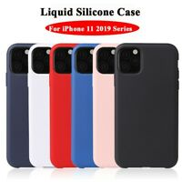 For iPhone 11 Pro Max XS XR 8 7 Cleanable Silicone Soft Liquid Luxury Case Cover