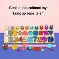 Kinder Lernspielzeug zählen hölzerne Montessori Math Board lernen Zahlen X2U3