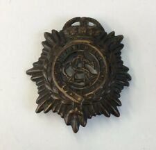 ASC Army Service Corps Brass Cap Badge Well Worn 4.5cm In Length