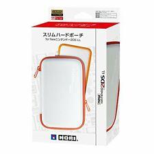 Hori Slim Hard Pouch White & Orange for New Nintendo 2DS XL(LL) 4961818028289