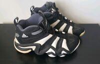 Vintage Adidas Equipment Men Shoes Black with White Stripes Sz 7.5
