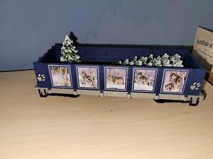 Hawthorne Village Silver Moon Express Wolf Train Flatbed Spirit in the Woods CAR